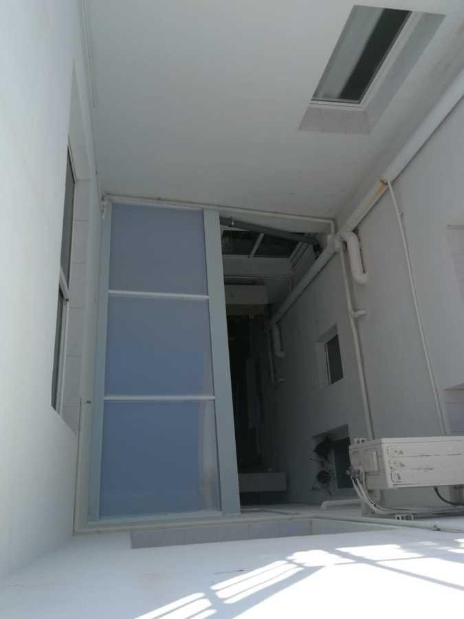 Vista superior techo policarbonato