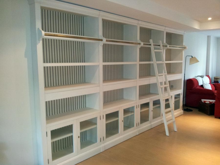 Librerias a medida precios best armarios libreras y - Librerias salon blancas ...