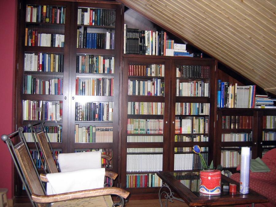 Librería cerrada en ángulo