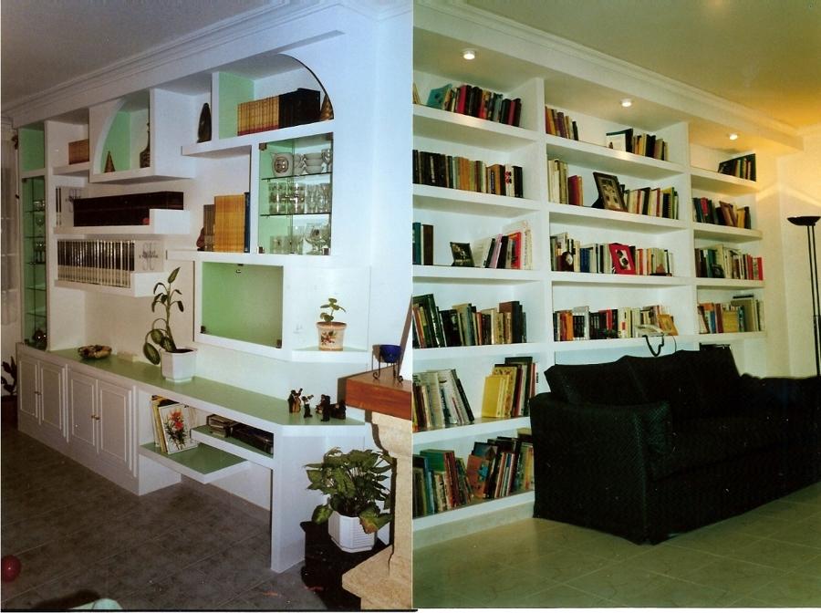 Foto libreria y mueble de salon pladur de for Librerias para salon