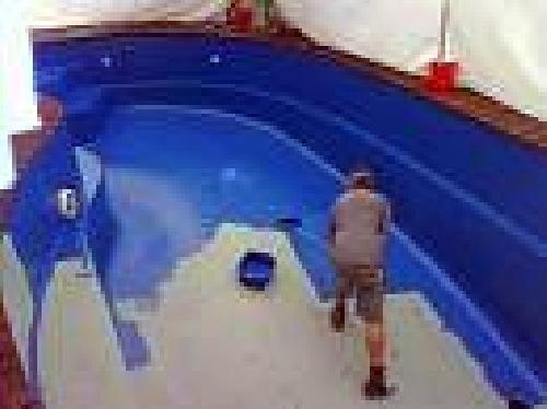 Foto lijado y pintado de piscina de piscinas ferma for Pintado de piscinas