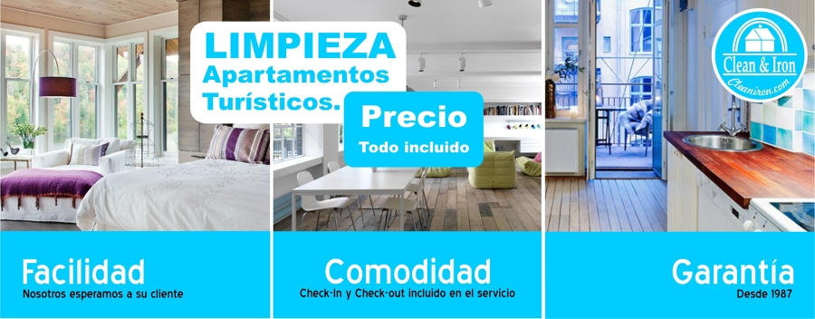 Foto limpieza apartamentos tur sticos de clean iron for Precios limpieza alfombras madrid