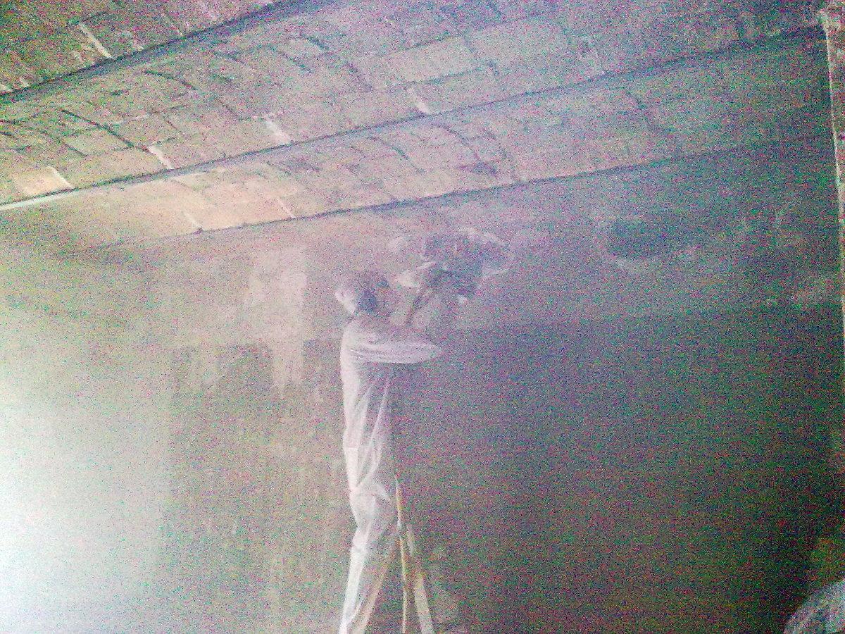 Limpieza incendios techos vistos de obra.