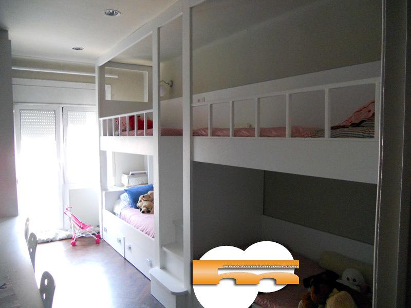 Foto litera a medida barcelona cuadruple de fusteriamanel - Habitaciones infantiles barcelona ...