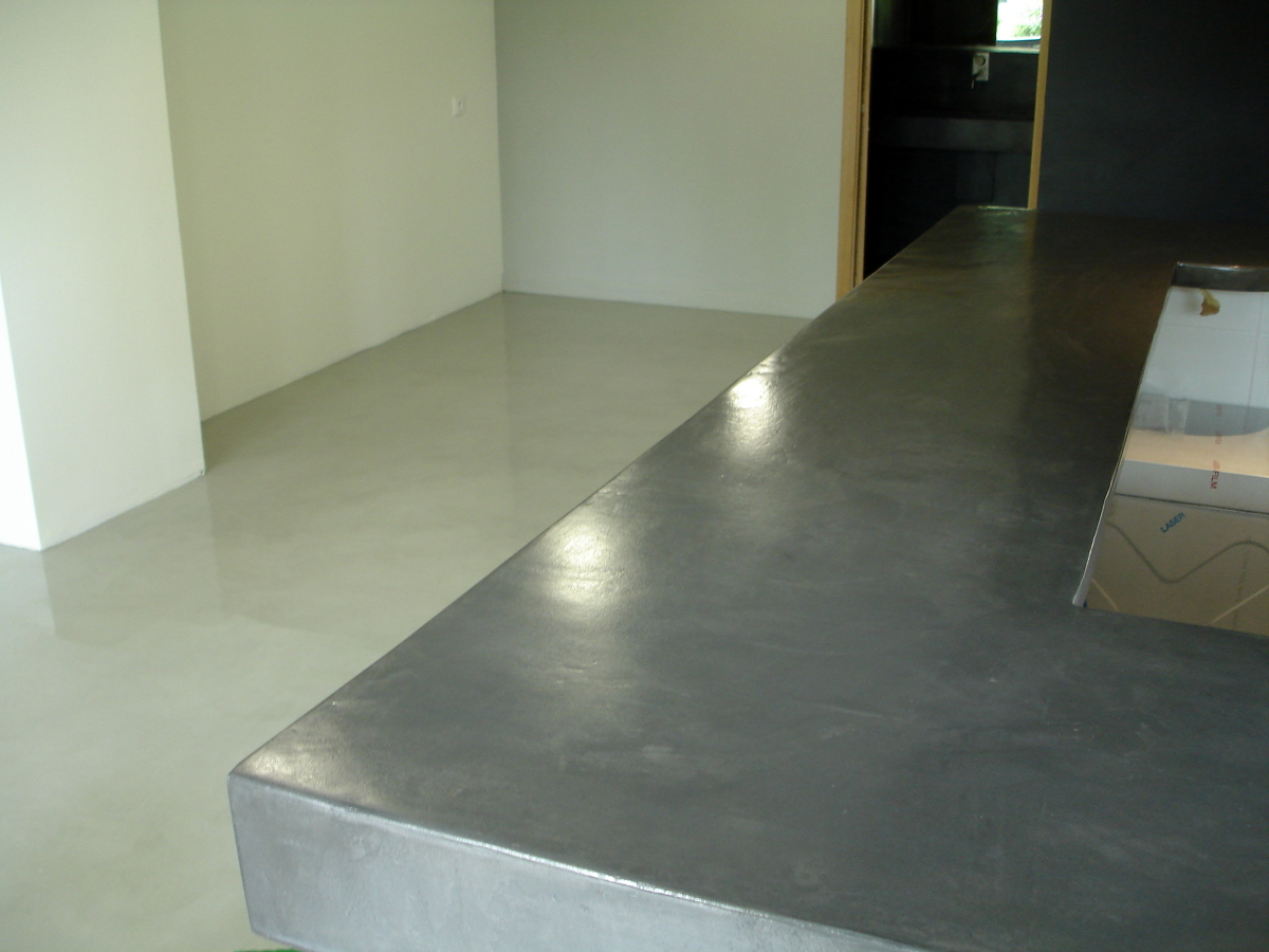 Foto local comercial barra solados y ba os en cemento - Banos cemento pulido ...