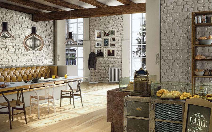 loft con paredes de ladrillo blanco - Pared Ladrillo Blanco
