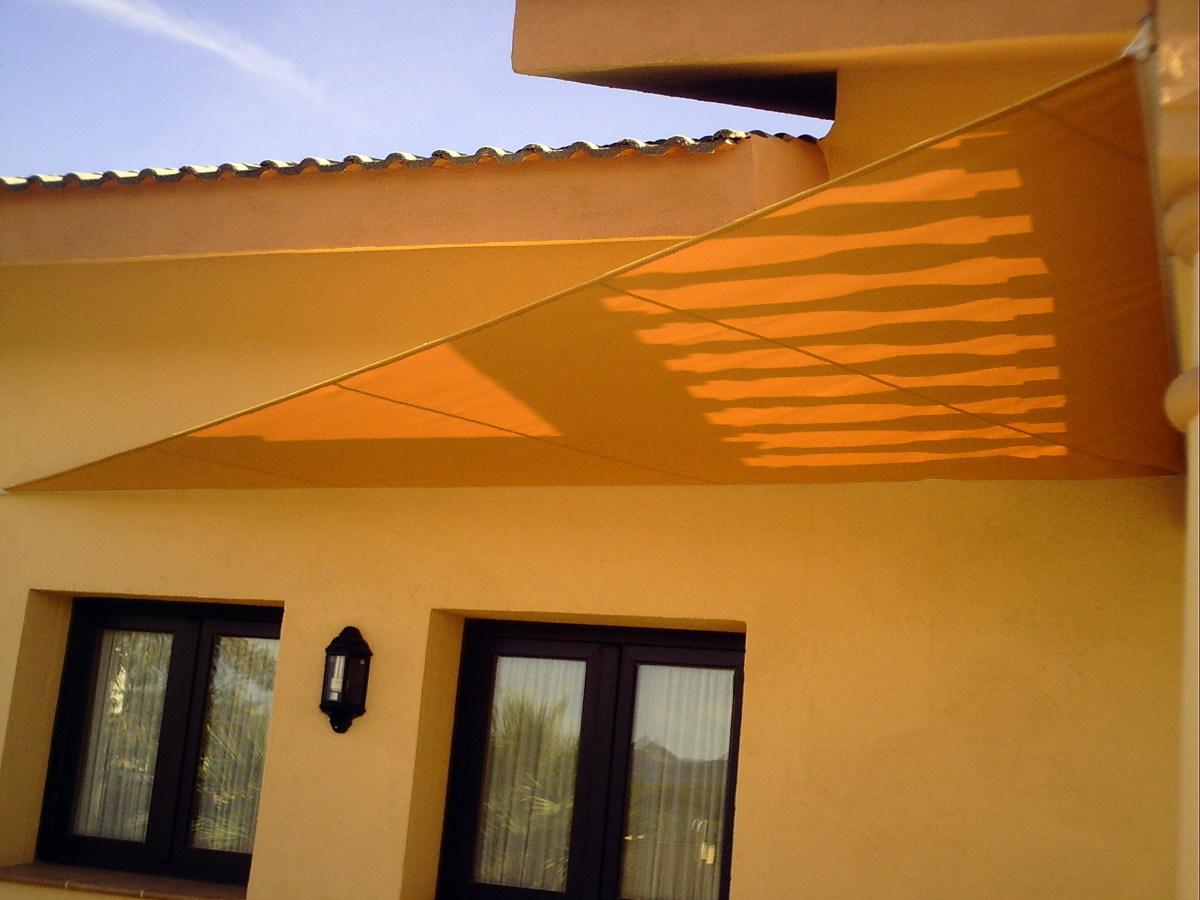 Lona solar para jardín