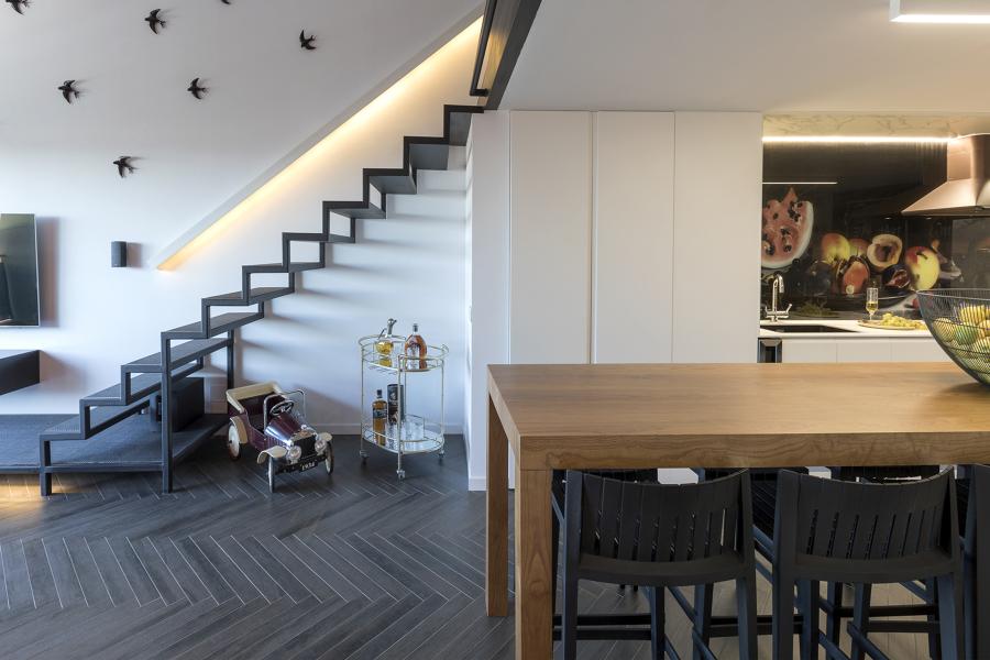 Escaleras dúplex loft