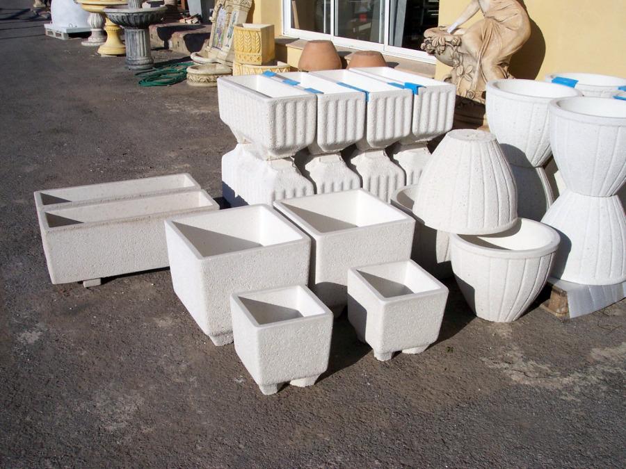 Foto maceteros granito blanco de gres babiloni 139717 for Granito blanco real