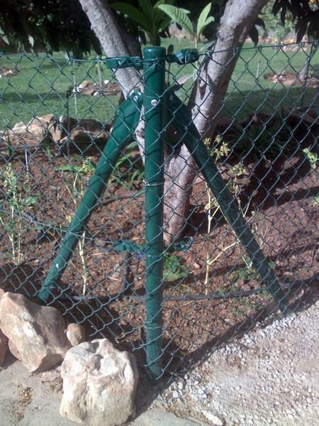 malla simple torsion verde