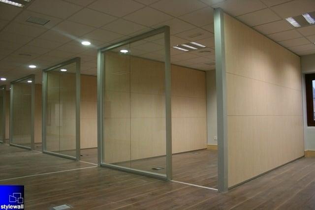 Foto mamparas divisorias de oficinas tabiques y muros for Tabiques moviles ikea