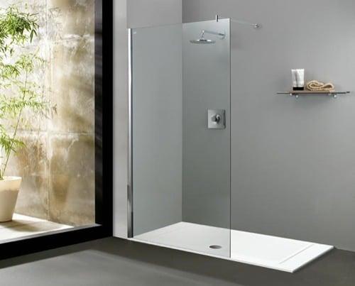 mamparas para ducha de obra