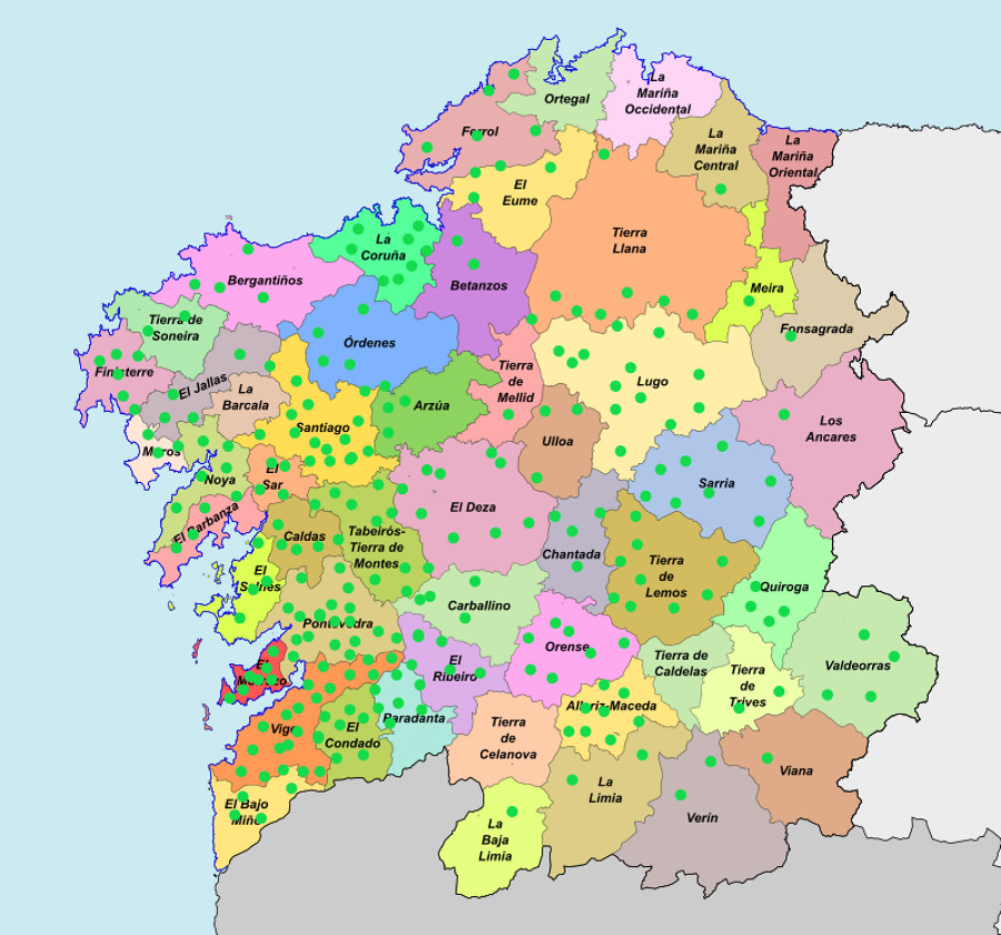 Trabajos realizados en Galicia