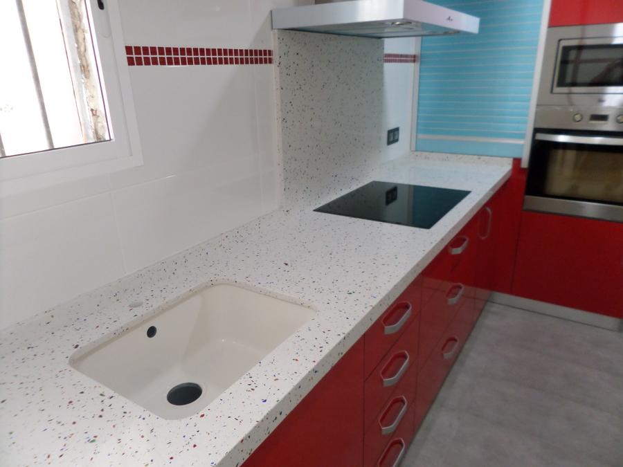 Foto marmoles monserrat 625316705 encimera de cocina en compac venecia de marmoles monserrat - Encimeras compac precio ...