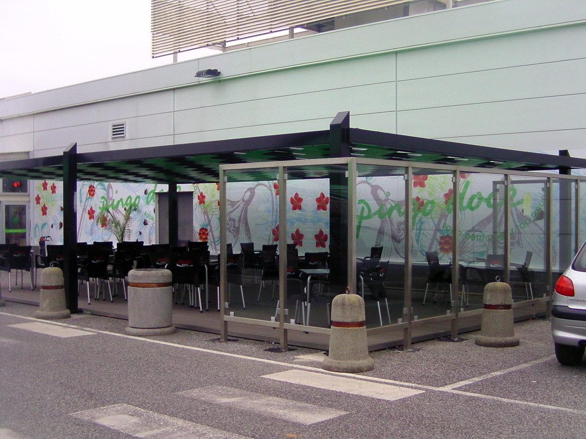Marquesina para terraza de restaurante