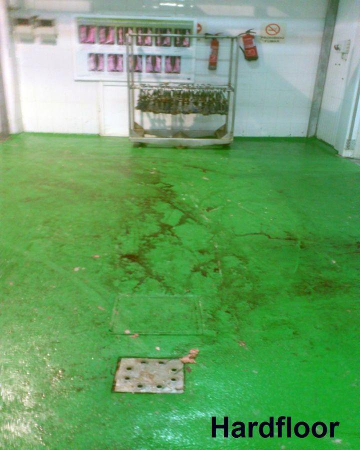 matadero con suelo de resina epoxi antideslizante