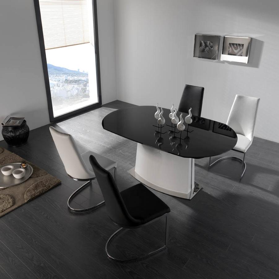 Foto mesa comedor cristal de muebles paco caballero for Muebles caballero murcia