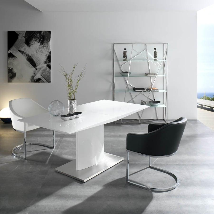 Foto mesa comedor extensible lacado blanco de muebles paco caballero 386545 habitissimo - Muebles comedor blanco lacado ...