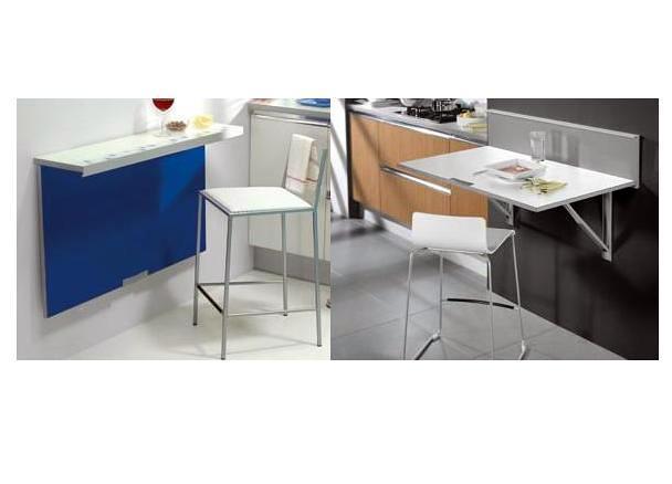 Foto mesa de cocina para espacios peque os de mobles for Mesas de estudio para espacios pequenos
