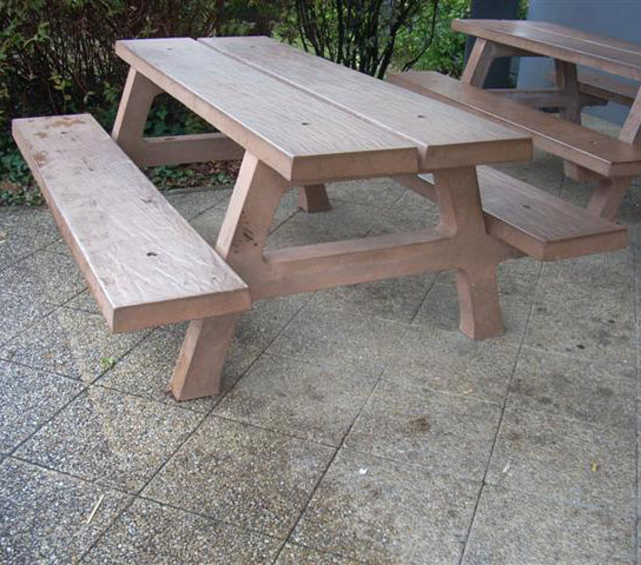 Foto mesa de picnic de hormigon imitacion madera de - Hormigon imitacion madera ...