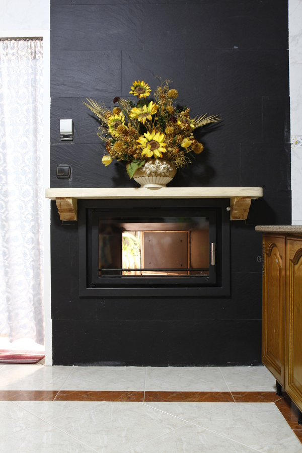 Foto instalaci n de chimenea de le a calefactora para la - Instalacion de chimeneas de lena ...