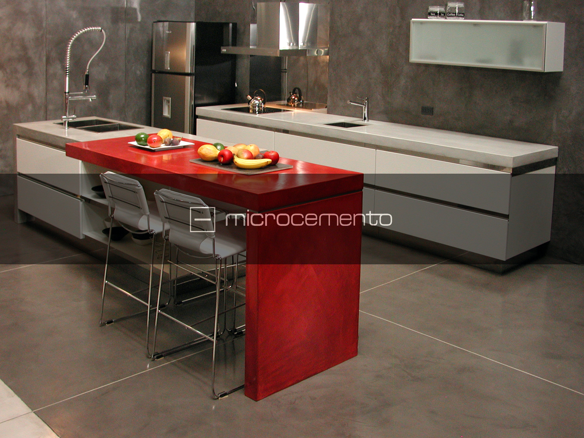 Foto microcemento cocinas de via chiessa cement design for Microcemento para cocinas
