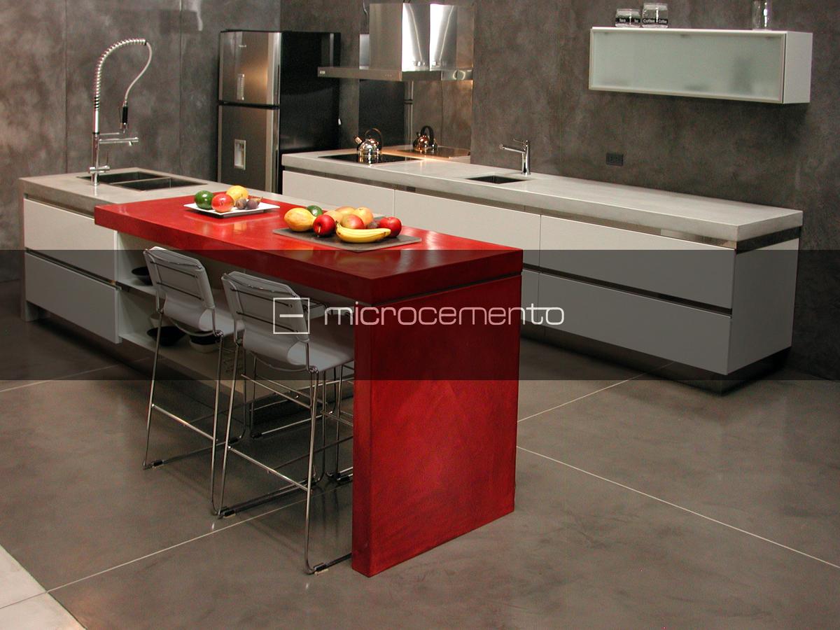 Foto microcemento cocinas de via chiessa cement design - Cocinas con microcemento ...