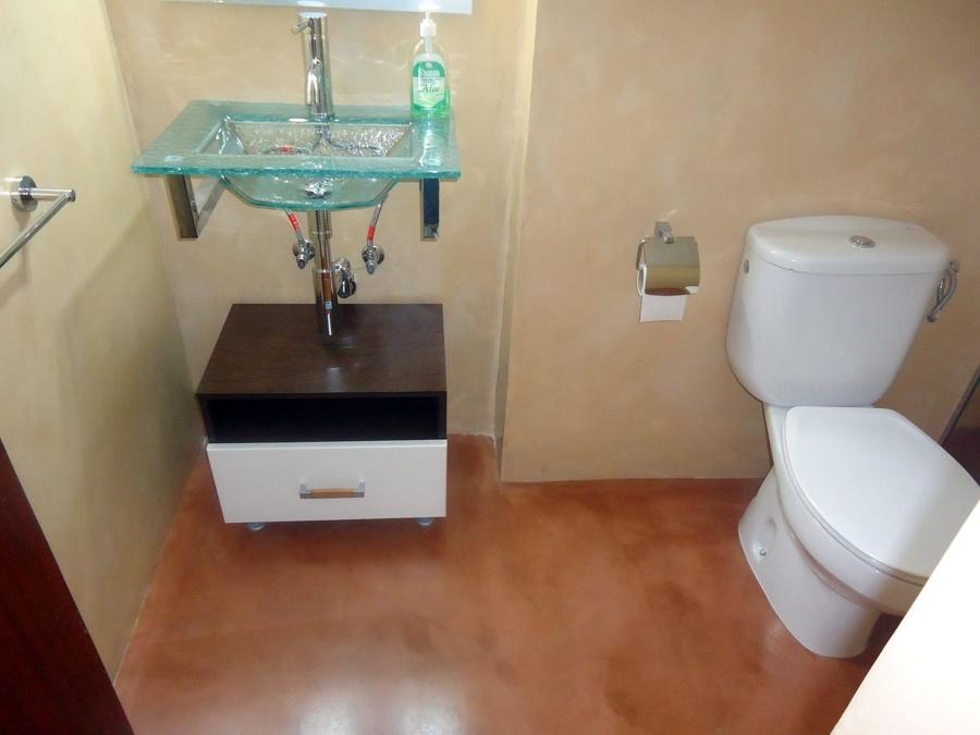 Foto microcemento en lavabo de innova obres i microcement - Lavabo microcemento ...