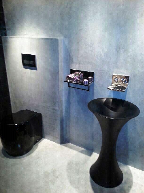 Foto microcemento en suelo y paredes de ba o de iris - Microcemento para paredes ...