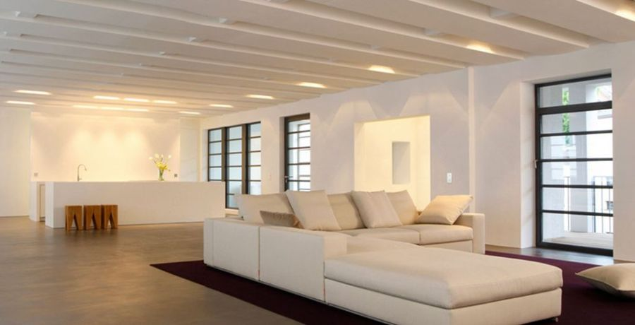 Foto microcemento suelo salon de floorandco mallorca 637966 habitissimo - Microcemento para suelos ...