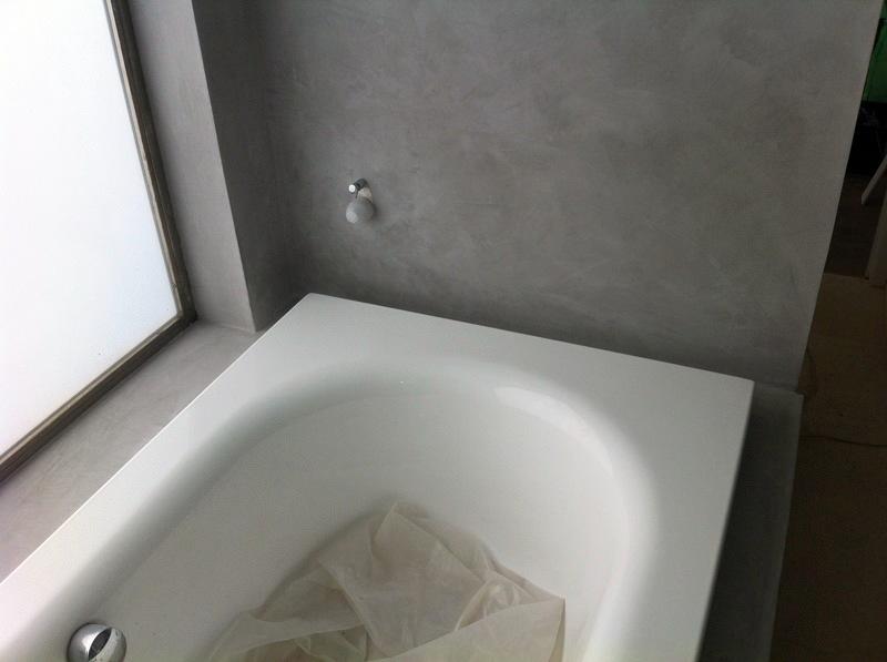 microcemento zona bañera