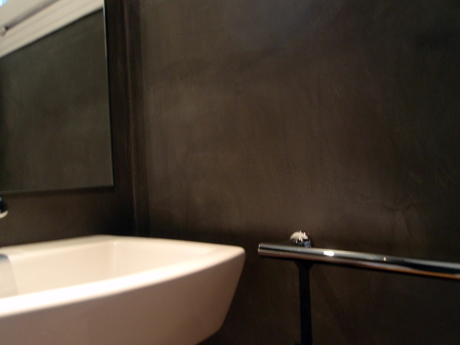 Microciment en un bany. (Sant Celoni)