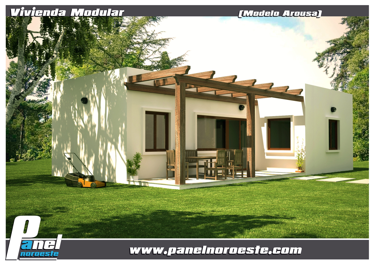 Foto modelo arousa cubic de panelnoroeste 290383 - Casas prefabricadas en pontevedra ...