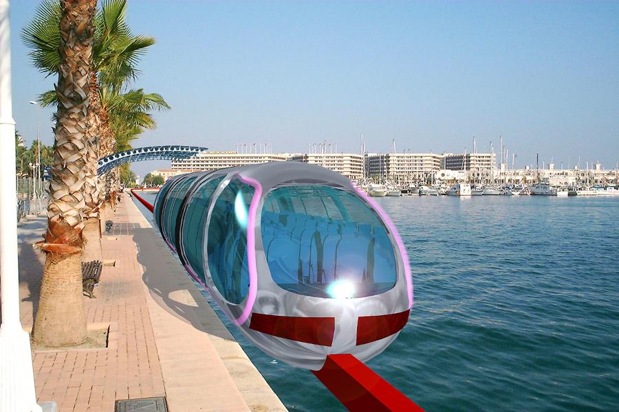 Monorrail en Concurso del Puerto de Alicante