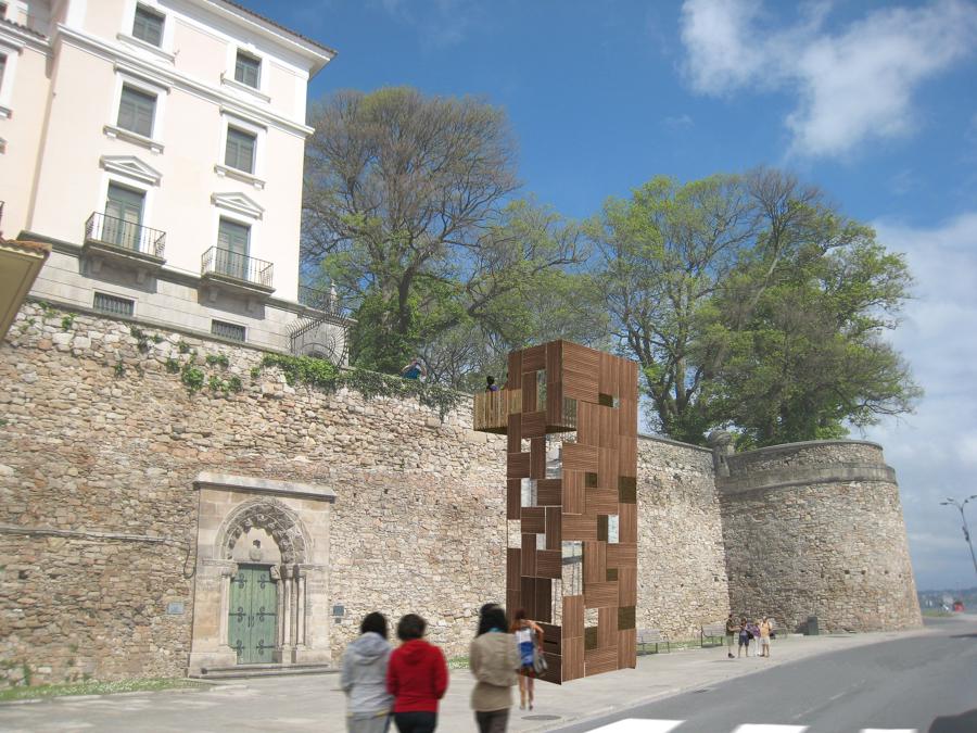 Mejora de la accesibilidad peatonal desde el paseo del Parrote (A Coruña)