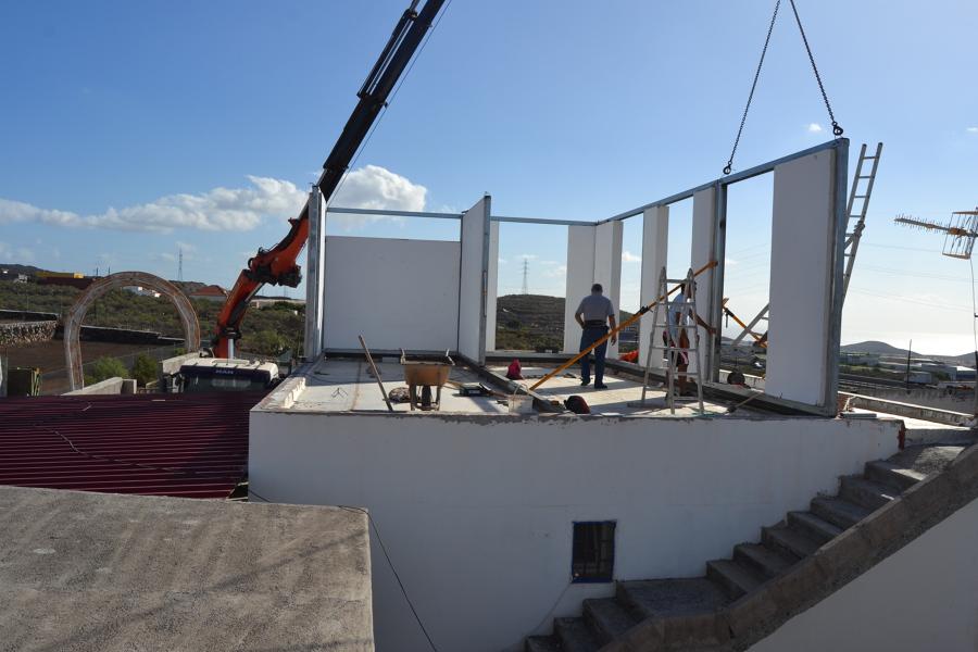 montaje de segunda planta casa unifamiliar de 160m2