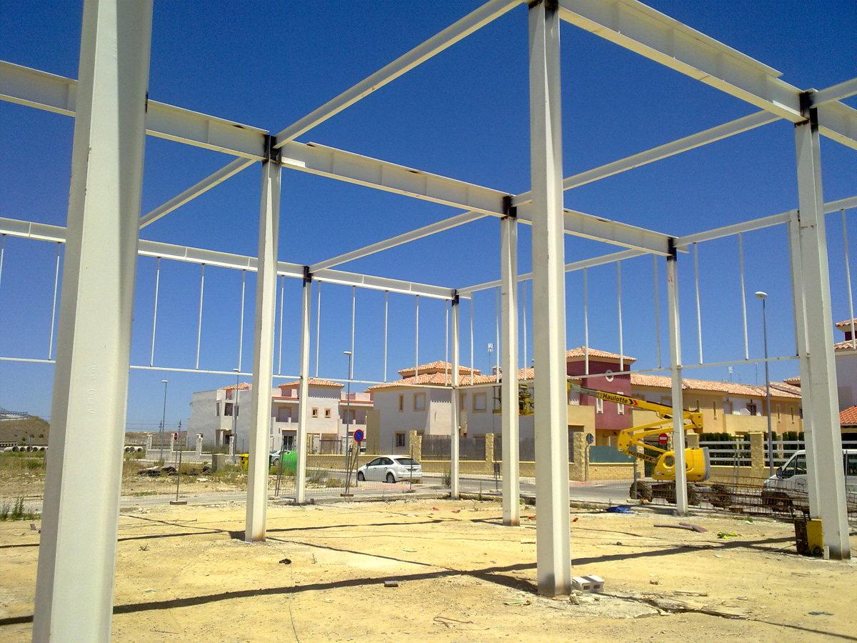 montaje estructura cubierta transitable