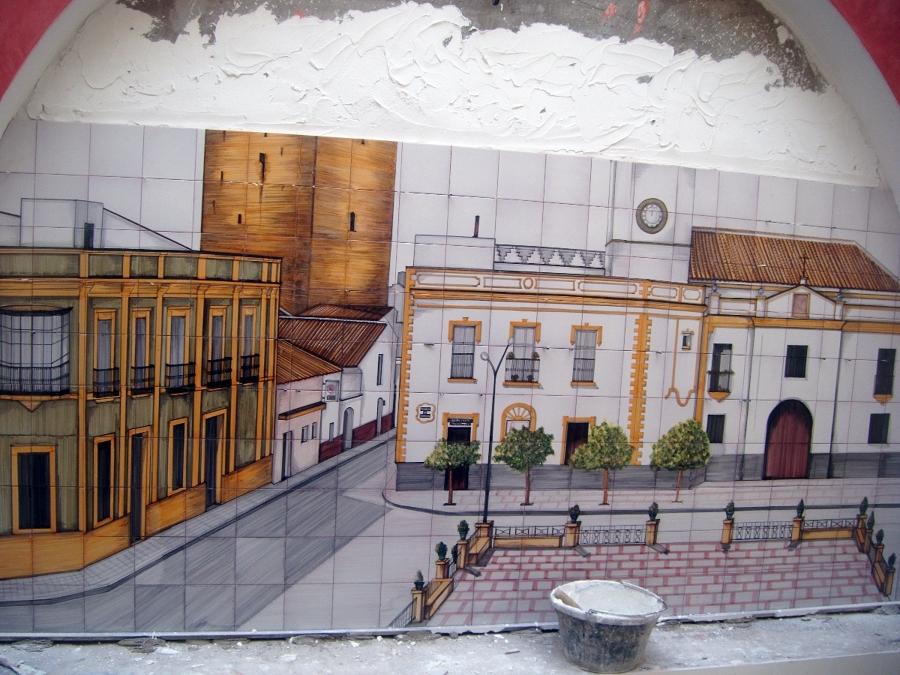 mosaico de la plaza de la algaba