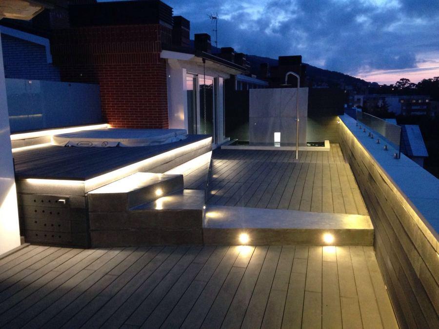 Foto iluminacion terraza de r l instalaciones electricas for Iluminacion terraza