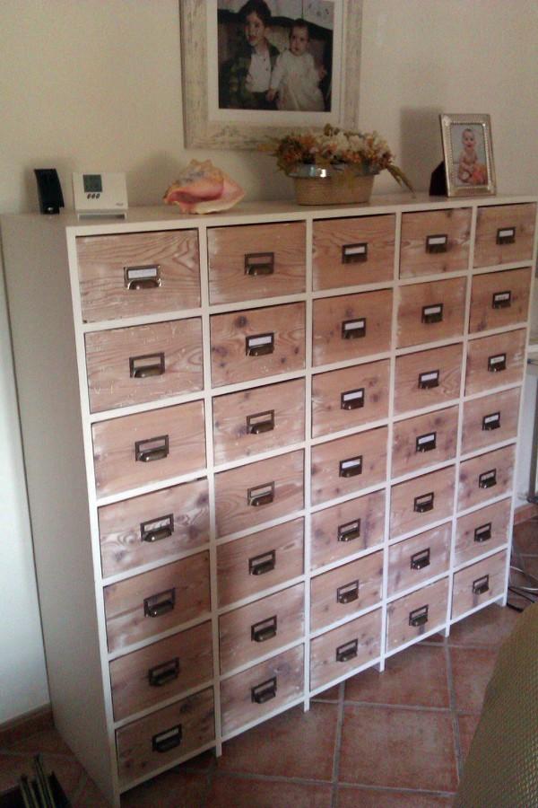 Foto mueble archivador pintado de femenia pintors 453859 - Muebles antiguos sevilla ...