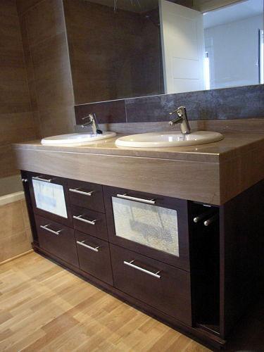 Foto mueble bajo encimera wengue de muebles de ba o jara for Muebles para debajo del lavabo
