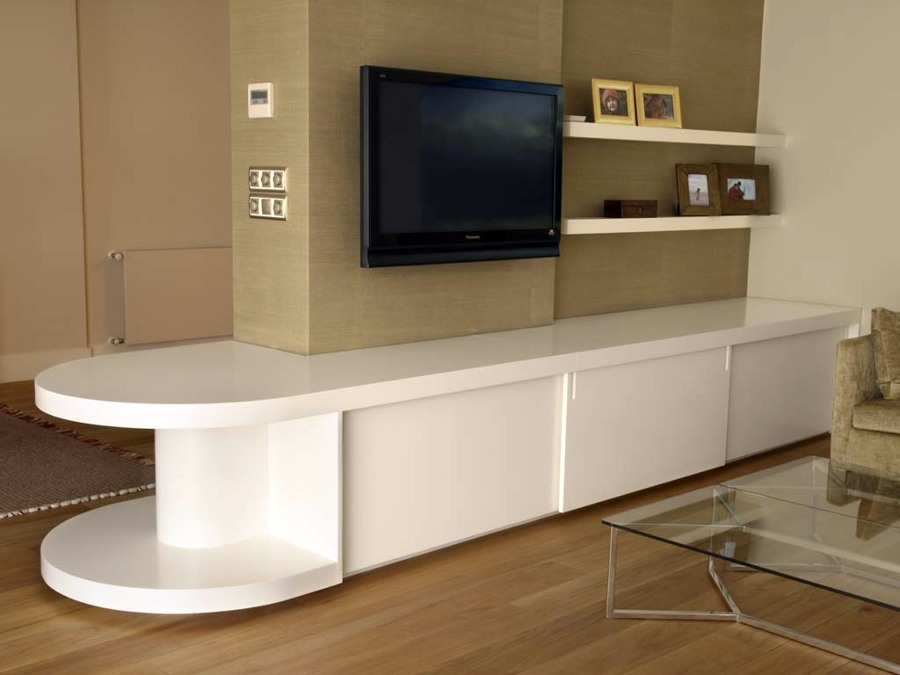 Foto mueble bajo para salon de carpinteros madrid 210298 - Muebles bajos para salon ...