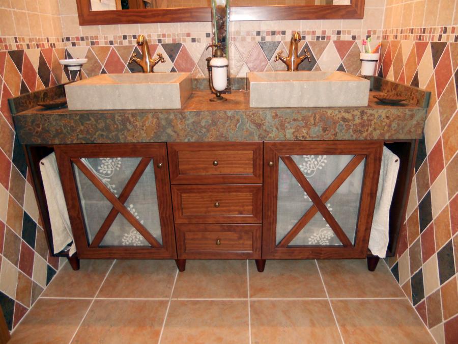 Foto mueble ba o a medida rustico de muejosala 134078 - Mueble bano a medida ...
