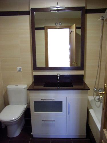 Mueble con lavabo integrado