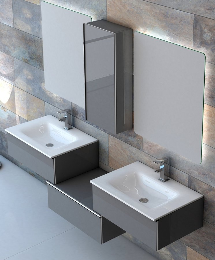 Foto mueble de ba o 2 lavabos de benegres s l 746691 for Banos con dos lavabos