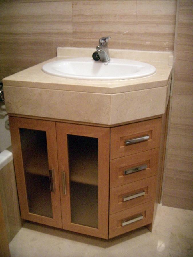 Foto mueble de ba o bajo encimera de artilara decoracion - Como hacer mueble de bano ...