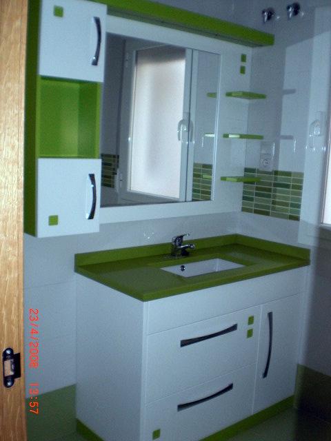 Ba o verde con blanco - Banos en blanco ...