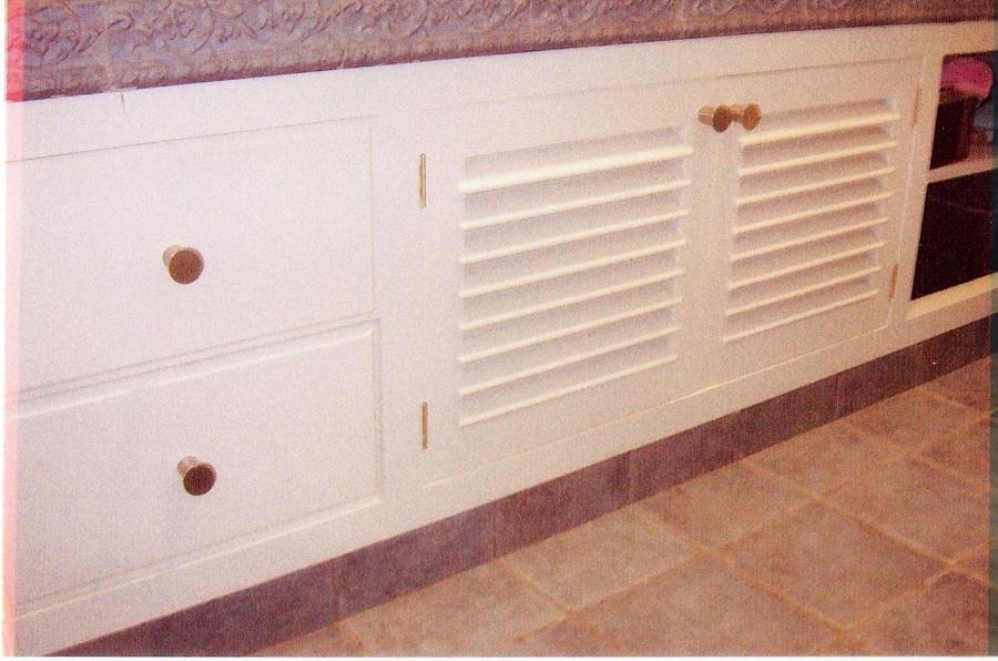 Foto: Mueble de Baño Lacado en Blanco de Carpinteria ...