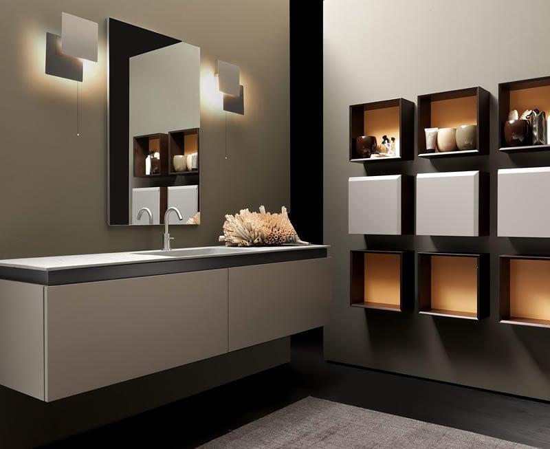 Ba os minimalistas de lujo - Muebles de bano para colgar ...