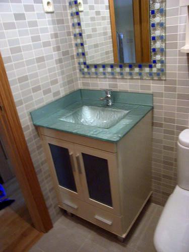 Encimeras de cristal para lavabos amazing lavabo bathco - Encimera lavabo cristal ...